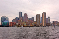 Boston skyline from the harbor, Boston, MA