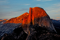 Sunset lights up Half Dome #2, Yosemite, CA
